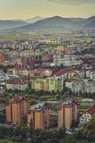 Paysage urbain aérien de Brasov Images libres de droits