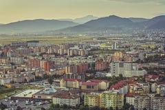 Paysage urbain aérien de Brasov Photo libre de droits