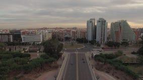 Paysage urbain aérien de Valence, Espagne clips vidéos