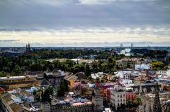 Paysage urbain aérien panoramique de ville de Séville de cathédrale, Espagne Image stock