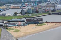 Paysage urbain Allemagne de Bremerhaven d'en haut Photos libres de droits