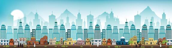 Paysage urbain Arabie illustration stock
