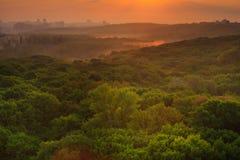 Paysage urbain au lever de soleil Image stock