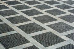 Paysage urbain avec le plancher vide de brique Photographie stock libre de droits