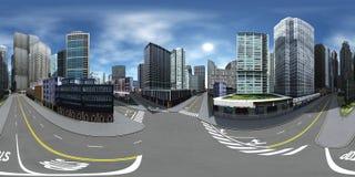 Paysage urbain carte d'environnement Carte de HDRI photo stock
