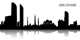 Paysage urbain d'Abu Dhabi Image libre de droits