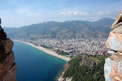 Paysage urbain d'Alanya photographie stock