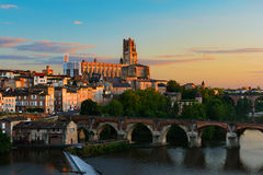 Paysage urbain d'Albi, France Image stock