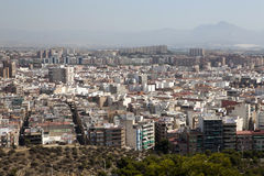 Paysage urbain d'Alicante, Photographie stock