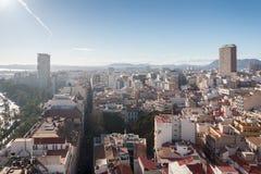 Paysage urbain d'Alicante Images libres de droits