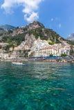 Paysage urbain d'Amalfi Photos libres de droits