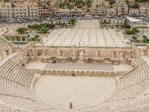 Paysage urbain d'Amman, capitale de la Jordanie, avec Roman Amphithea Images stock