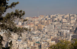Paysage urbain d'Amman, Jordanie Images stock