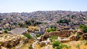 Paysage urbain d'Amman, Jordanie Image stock
