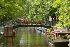Paysage urbain d'Amsterdam. photographie stock