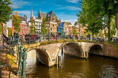 Paysage urbain d'Amsterdam Images libres de droits