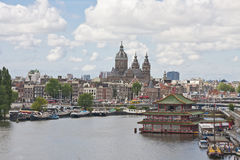 Paysage urbain d'Amsterdam Hollande Photographie stock