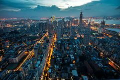 Paysage urbain d'antenne de Xiamen Siming Images stock