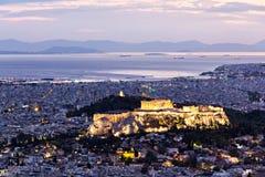 Paysage urbain d'Athènes Images libres de droits