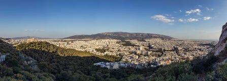 Paysage urbain d'Athènes Photos libres de droits