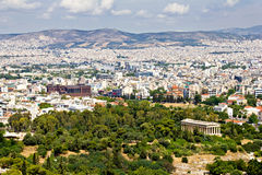 Paysage urbain d'Athènes, Grèce Photographie stock