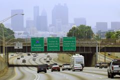 Paysage urbain d'Atlanta Image libre de droits