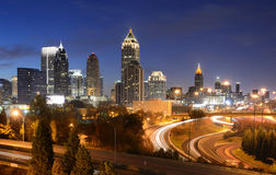 Paysage urbain d'Atlanta la Géorgie photographie stock