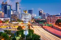 Paysage urbain d'Atlanta la Géorgie Photographie stock libre de droits