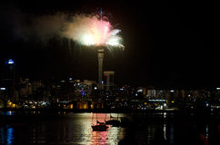 Paysage urbain d'Auckland Photo libre de droits