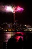 Paysage urbain d'Auckland Photos libres de droits