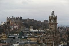 Paysage urbain d'Edimbourg image stock