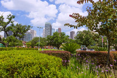 Paysage urbain d'horizon de Houston dans le Texas USA Photos stock