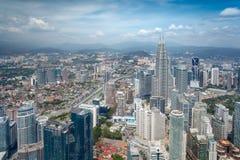 Paysage urbain d'horizon de Kuala Lumpur en Malaisie photo libre de droits