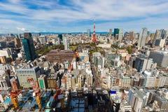 Paysage urbain d'horizon de Tokyo image stock