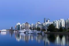 Paysage urbain d'horizon de Vancouver Image stock