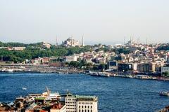 Paysage urbain d'Istanbul Photos libres de droits