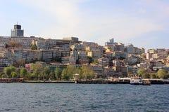 Paysage urbain d'Istanbul, Turquie images libres de droits