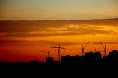 Paysage urbain d'Odessa Evening d'un haut plancher sur l'extérieur Photo stock