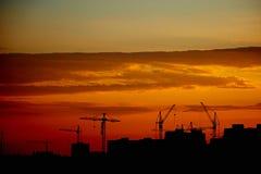 Paysage urbain d'Odessa Evening d'un haut plancher sur l'extérieur Photos libres de droits