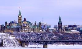 Paysage urbain d'Ottawa Image libre de droits