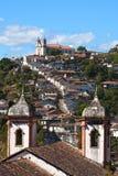 Paysage urbain d'Ouro Preto Photographie stock libre de droits