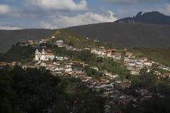 Paysage urbain d'Ouro Preto image stock