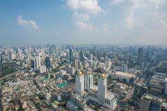 Paysage urbain dans la ville de Bangkok de la Thaïlande Photo libre de droits