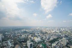 Paysage urbain dans la ville de Bangkok de la Thaïlande Photos libres de droits
