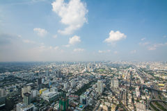Paysage urbain dans la ville de Bangkok de la Thaïlande Images stock
