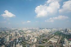 Paysage urbain dans la ville de Bangkok de la Thaïlande Images libres de droits