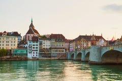Paysage urbain de Bâle en Suisse Photographie stock libre de droits
