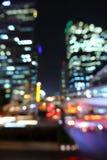 Paysage urbain de Bangkok au temps crépusculaire, bokeh brouillé de photo images libres de droits