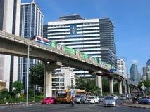 paysage urbain de Bangkok Skytrain Image stock