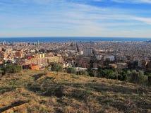 Paysage urbain de Barcelone Image libre de droits